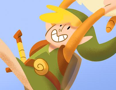 Link is a brat (The Legend of Zelda fanart)