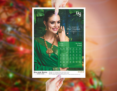 Calender design for Jewellers