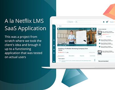 A la Netflix LMS SaaS Application