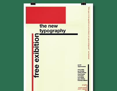 Typography Exhibition Poster