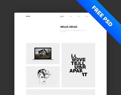 Holver - Free Portfolio PSD Template