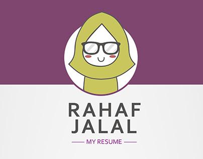 My Resume/CV - Graphic Design (English & Arabic)
