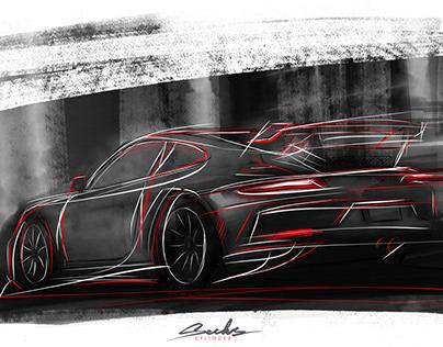 Porsche GT3 artwork