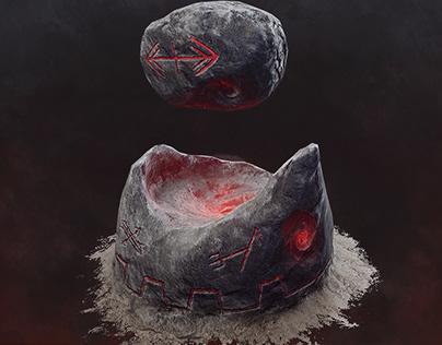 Carved Brink - Goblin Portal Stone