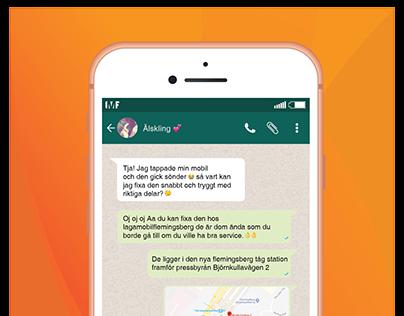 LMF Flyer Whatsapp chat marketing
