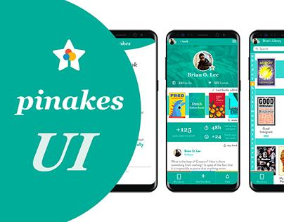 Pinakes APP - UI part