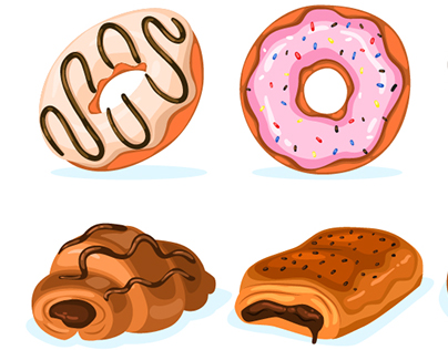 Sweets vector set.