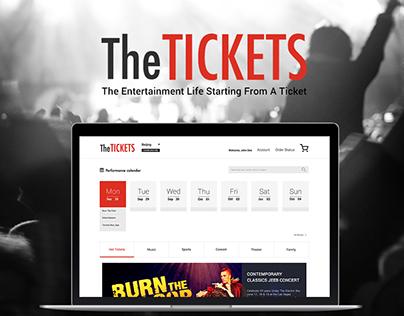 The Tickets Web Design