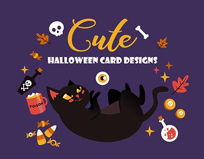 Cute Halloween Card designs