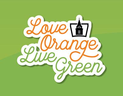 Love Orange Live Green