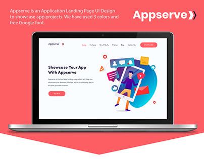 App Landing Page UI Design - Appserve