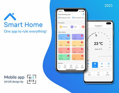 Smart Home. Mobile app design.