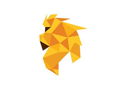 Lion polygon logo