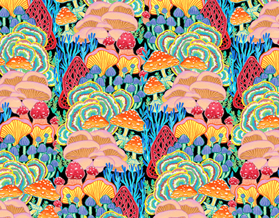 Pattern design - Fungi World