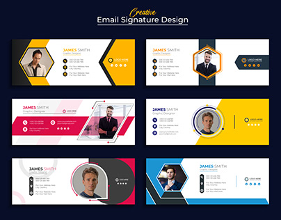 Creative Email Signature|Business E-mail /Footer Design