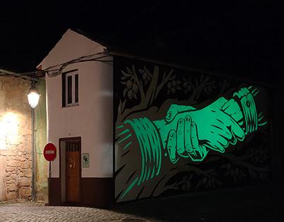 """""""La paz de Belmonte"""" Wall (Belmonte, Portugal)"""