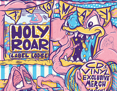 Holy Roar Label Lodge Poster