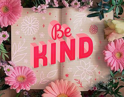 Be Kind — Lettering