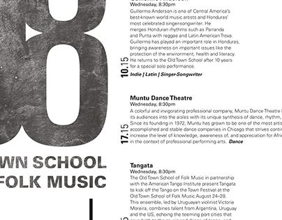 Typographic Poster | World Music Wednesdays