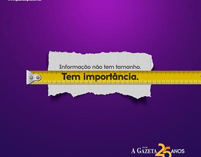 Anúncio sequencial Jornal A Gazeta