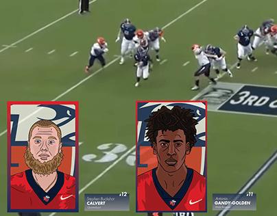 Liberty Football Illustrated Graphics