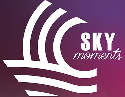@skymomentsevents Logo para uma empresa de Organização