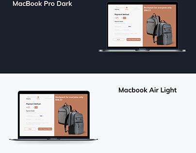 DailyUiChallenge02 - Backpack for Apple family