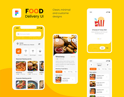 Food Delivery Application UI