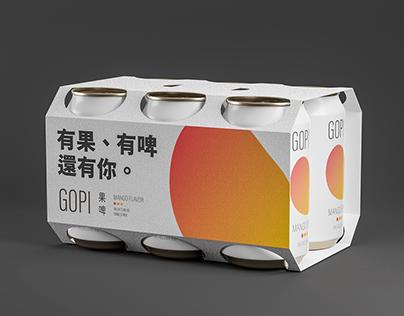GOPI 果啤 - 水果啤酒品牌形象設計