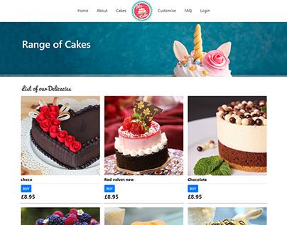 Mr.Cake cake shop build in php