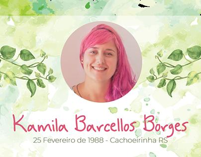 Currículo Infográfico - Kamila Barcellos Borges