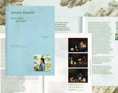 Sanam Khatibi's Exhibition — Editorial design