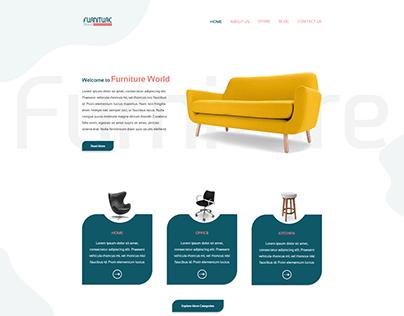Furniture World_E-Commerce Concept Website