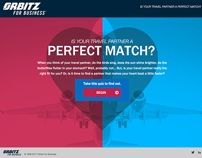 Perfect Match Quiz for Orbitz for Business