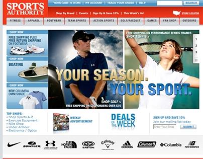 Sports Authority copywriting