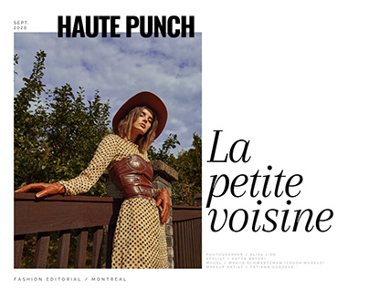 Editorial for HAUTE PUNCH magazine