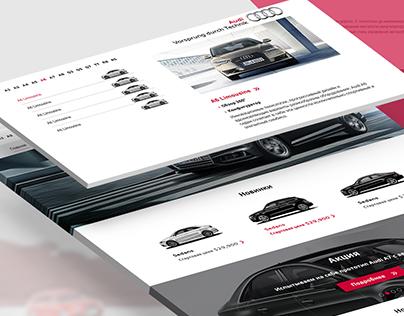 Website for Audi in Uzbekistan