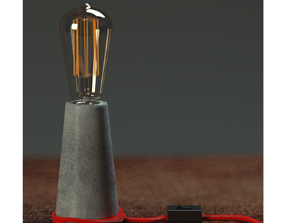 Cinema 4d and vray 3.7 setups Concrete lighthouse lamp