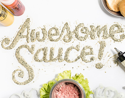 """Awesome Sauce!"" Sauce Food Typography"