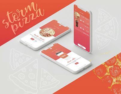 Storm pizza - delivery application concept
