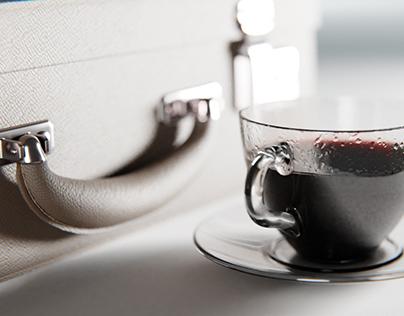 Suit Case & Cofee