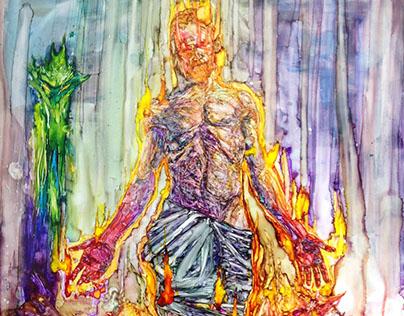 Christ (2015, plexiglass)