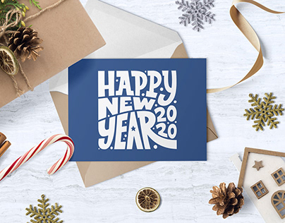 Christmas & New Year Lettering