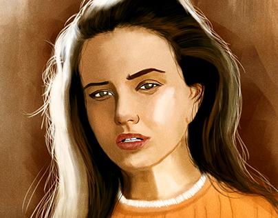 Katherine Langford Digital Painting