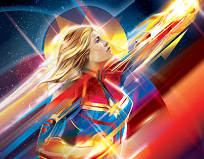 OFFICIAL CAPTAIN MARVEL PRINT/ Vector art