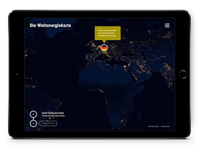 Website prototype: Die Weltenergiekarte