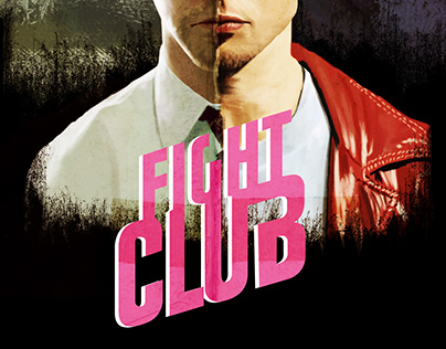 Digital painting poster Fight club