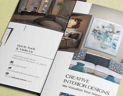 Home Interior Tri-fold Brochure | Trifold Brochure