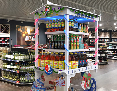 New Year Brand zone for Pepsico.