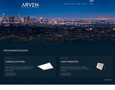 Arven Aydınlatma Web Design, UI-UX and SEO